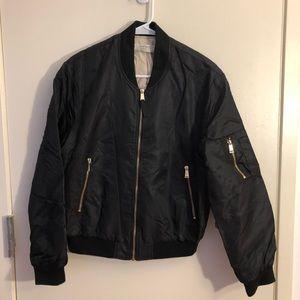 EUC black Zara bomber